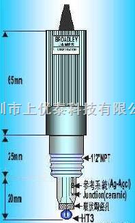 C1121K-121-A10BC管路型酸碱度电极,BROADLEY JAMES电极,管路型PH电极