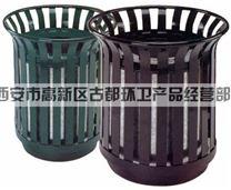 古都环卫钢板单桶果皮箱