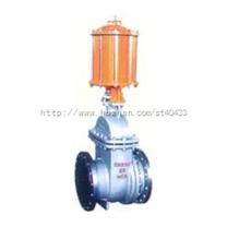 PZ641H型PN16~PN63气动钢制排渣闸阀