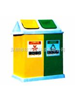 玻璃钢环保分类垃圾桶