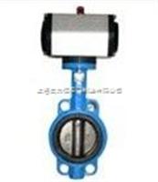D673X/H气动对夹式铸钢蝶阀